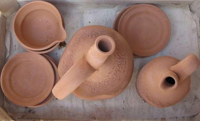 посуда ручной работы глиняная