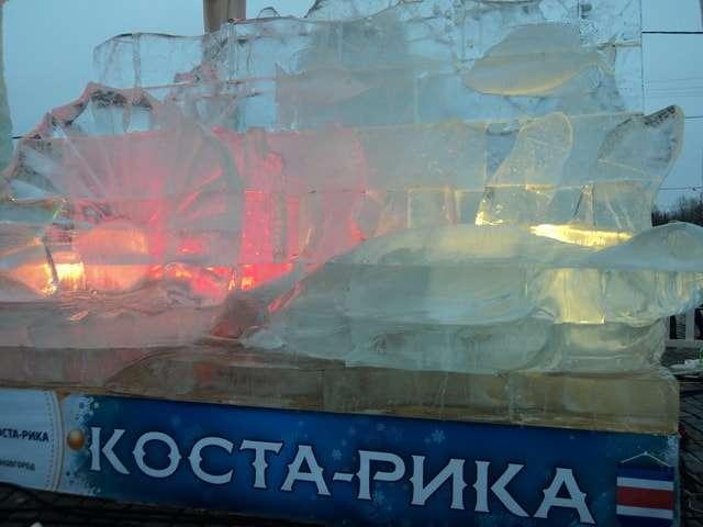 ледяные скульптуры на поклонной горе