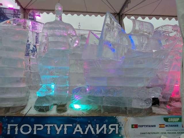 ледяные скульптуры на поклонной горе 2018