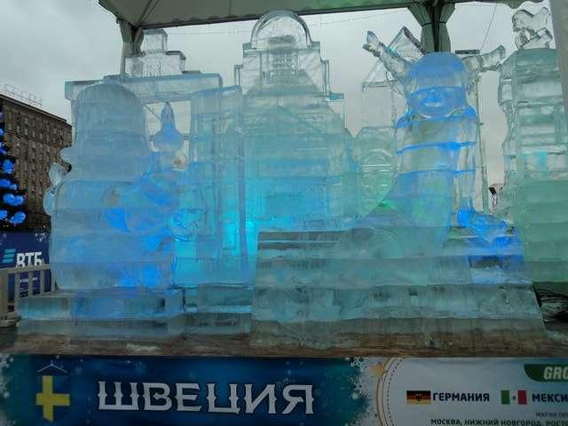 поклонная гора новый год 2018 ледяные скульптуры