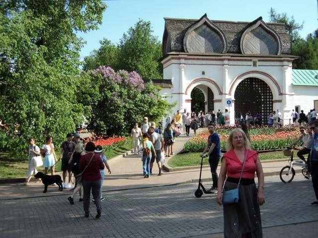 парк коломенское фото весной