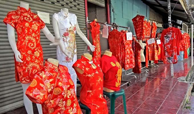 традиционная шелковая красная одежда