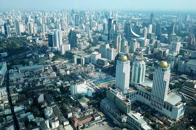 вид со смотровой площадки бангкока