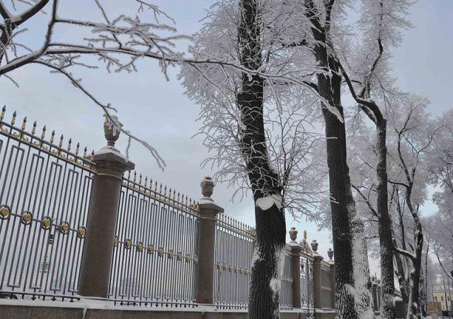 ажурная ограда летнего сада