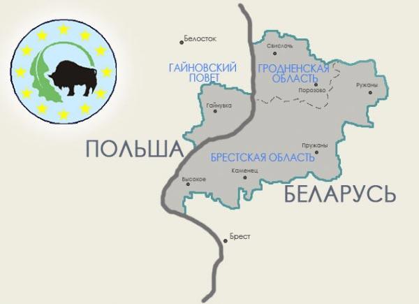 беловежская пуща на карте белоруссии