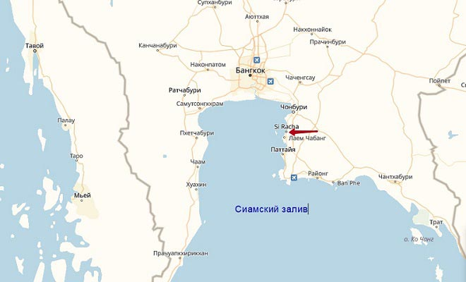 расположение города на карте
