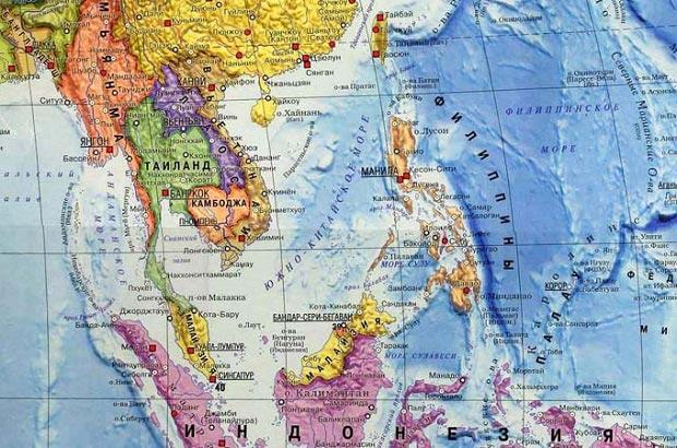 где находится лаос на карте мира