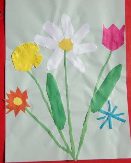 детские аппликации из цветной бумаги