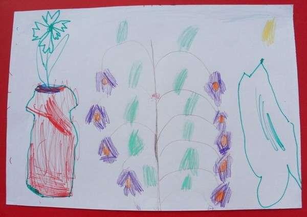 детские рисунки цветов