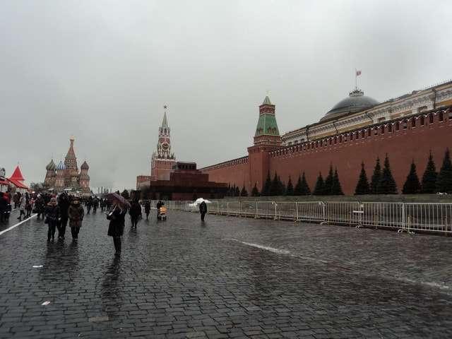 на главной площади россии