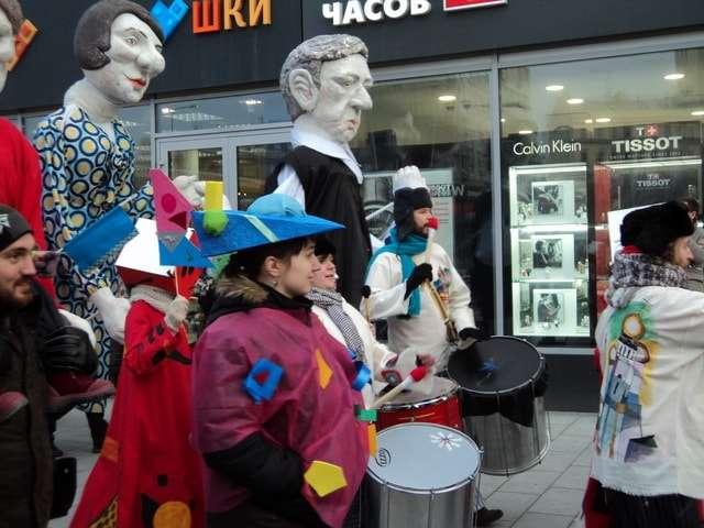 масленица карнавал на новом арбате