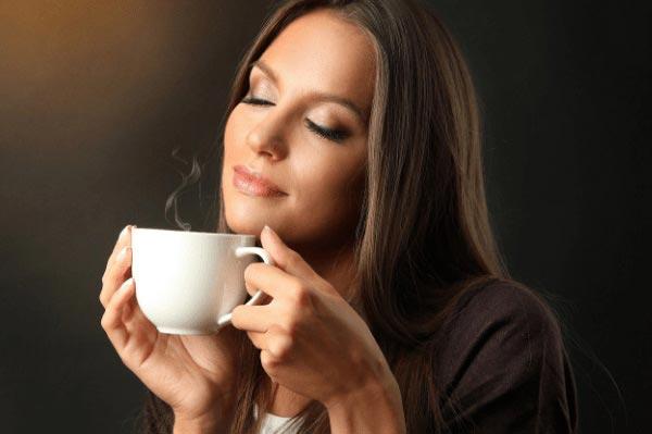 ароматный напиток успокаивает