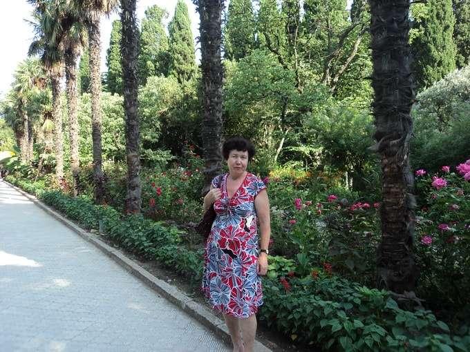 пальмовая аллея нижнего парка