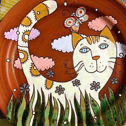 авторская керамика кошка