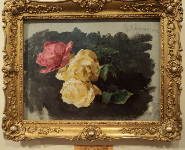 розы картон масло