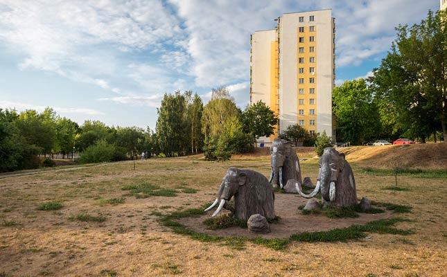скульптура мамонты