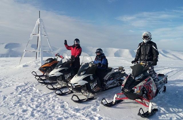 катание на снегоходах горнолыжный курорт