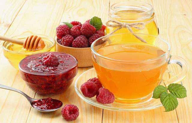 польза малинового чая с медом